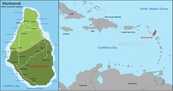 GraphicRiver Montserrat Map 11294685