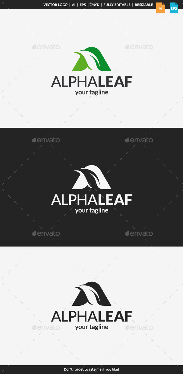 GraphicRiver Alpha Leaf Logo 11294687