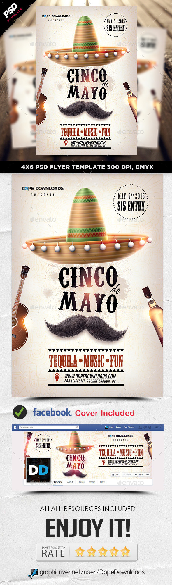 GraphicRiver Cinco De Mayo Party Flyer Template 11269794