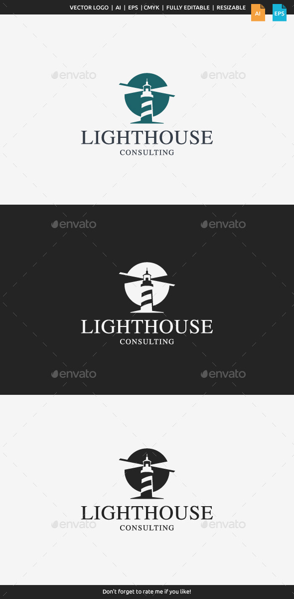 GraphicRiver Lighthouse Consulting Logo 11295097
