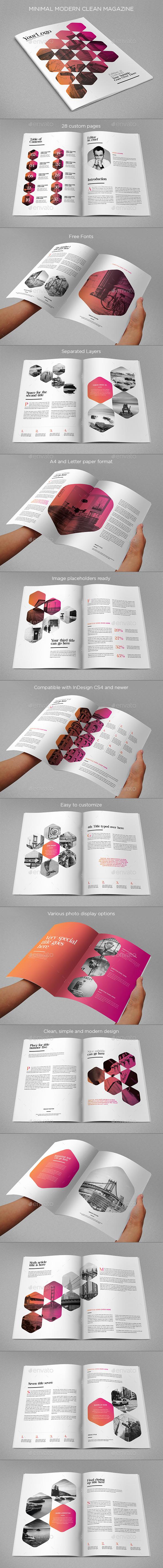 GraphicRiver Minimal Modern Clean Magazine 11295103