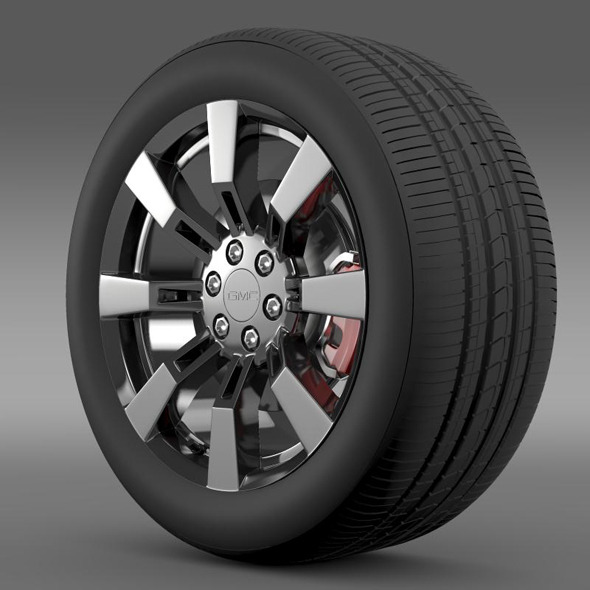 GMC Denali Hybrid wheel - 3DOcean Item for Sale