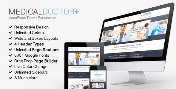 MedicalDoctor - WordPress Theme For Medical - Health & Beauty Retail