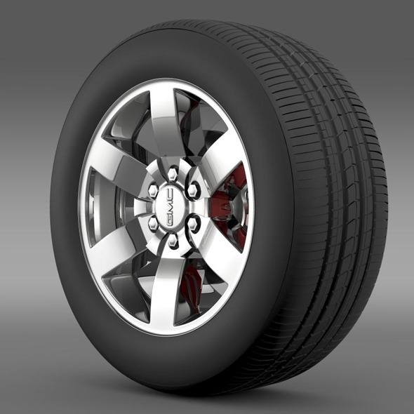 GMC Yukon Heritage Edition wheel - 3DOcean Item for Sale