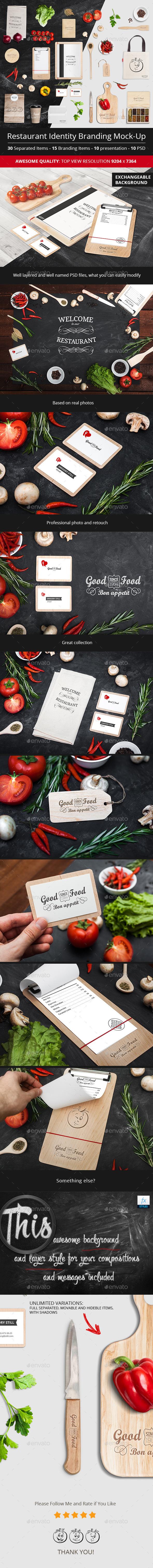 GraphicRiver Restaurant Identity Branding Mock-Up 11295222