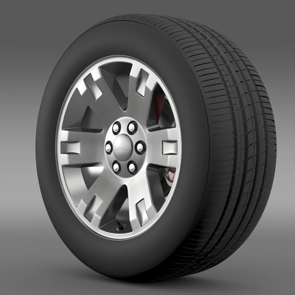 3DOcean GMC Yukon XL wheel 11295221