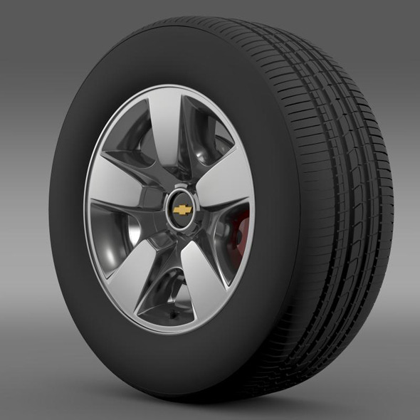 Chevrolet Suburban DE wheel - 3DOcean Item for Sale