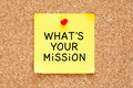 What is Your Mission Sticky Note - PhotoDune Item for Sale