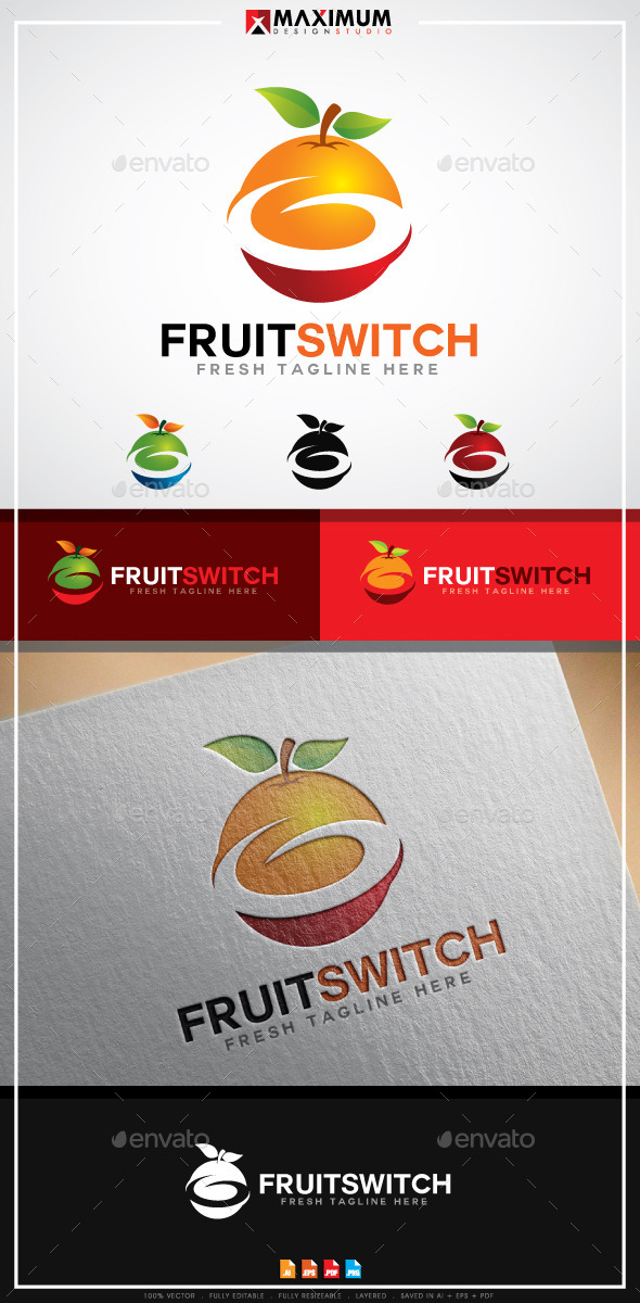 GraphicRiver FruitSwitch Logo Template 11295754