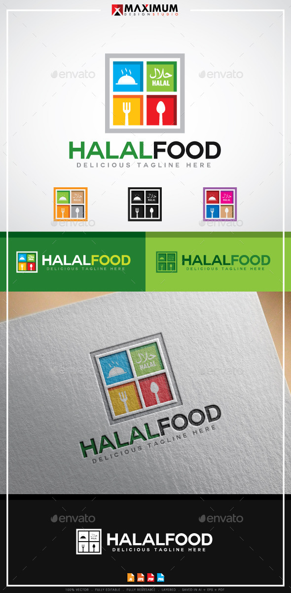 GraphicRiver Halal Food Logo 11295845