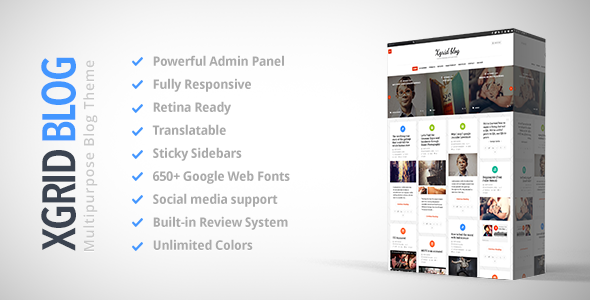 xGridBlog - Clean & Personal WordPress Blog Theme