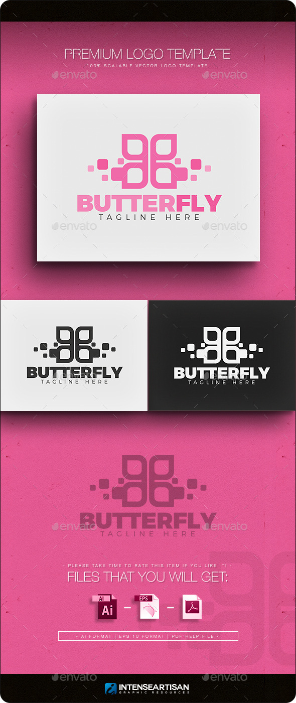 GraphicRiver Butterfly Logo 11296370