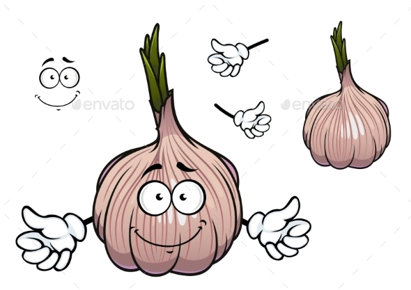 GraphicRiver Bulb Of Sprouted Cartoon Garlic Vegetable 11296403