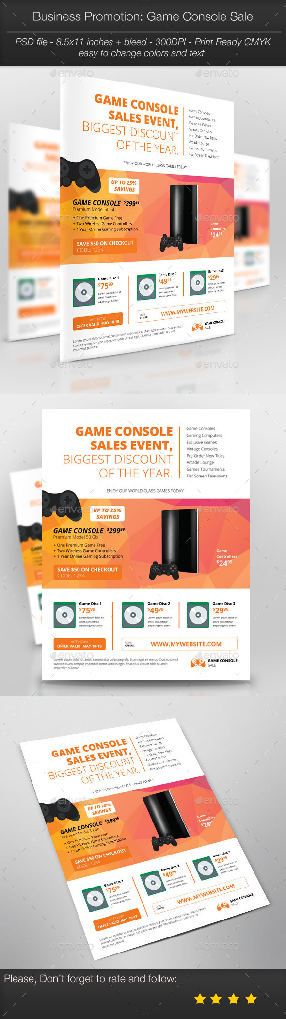 GraphicRiver Business Promotion Game Console Sale 11215961