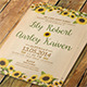 Sunflower Wedding Invitation & Post Card