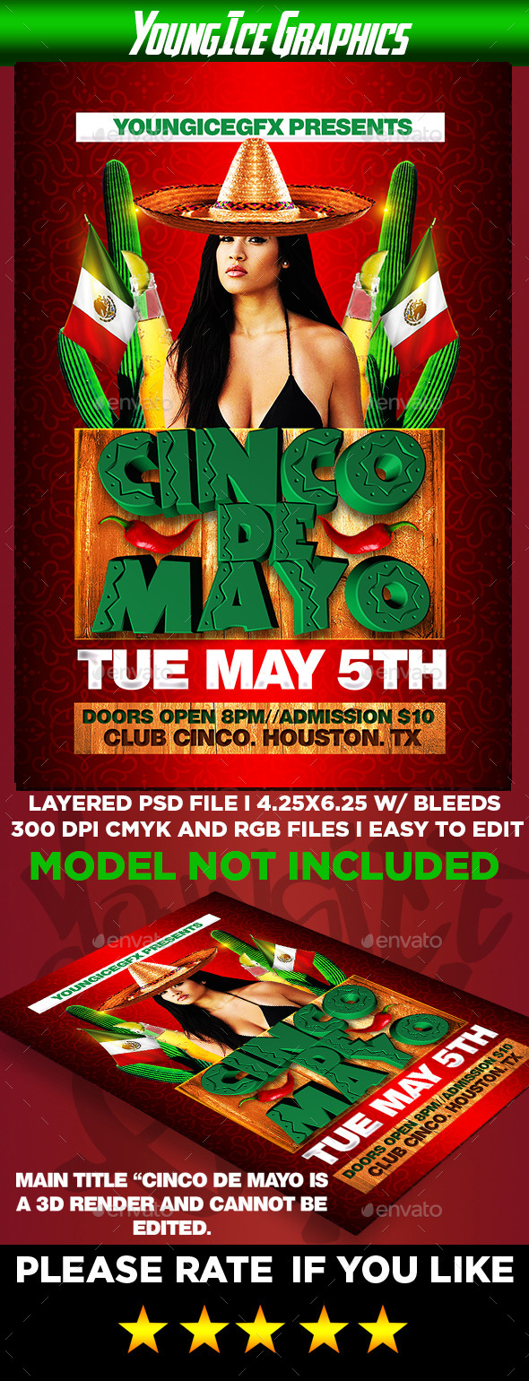 GraphicRiver Cinco De Mayo Flyer Template 11296784