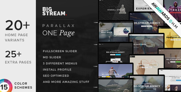 590.  large preview - BigStream - One Page Multi-Purpose Drupal Theme