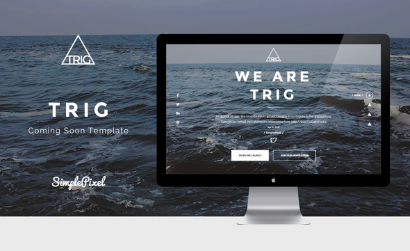 ThemeForest Trig Creative Coming Soon Template 11239415