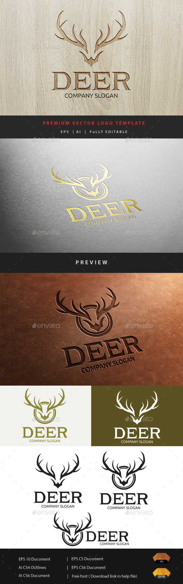GraphicRiver Deer Logo 11297355