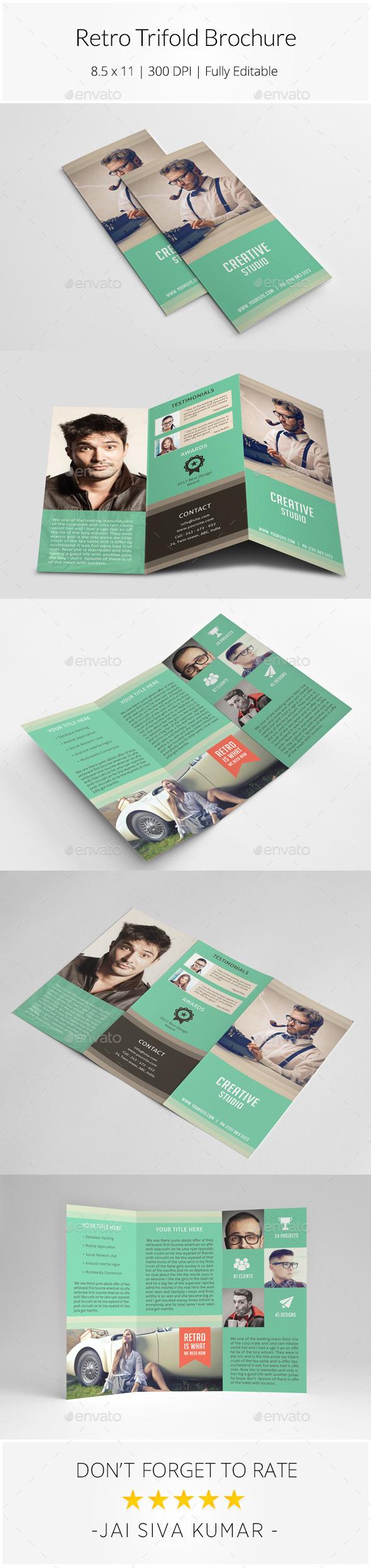GraphicRiver Retro Style Trifold Brochure 11297442