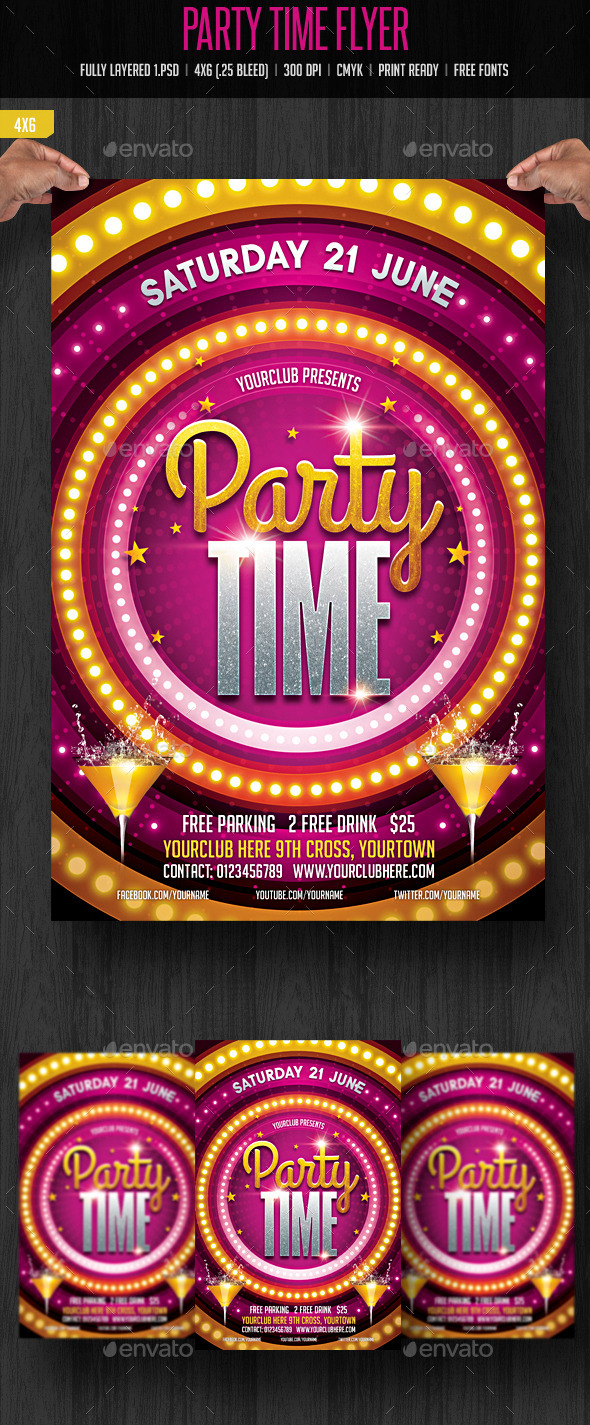GraphicRiver Party Time Flyer 11297448