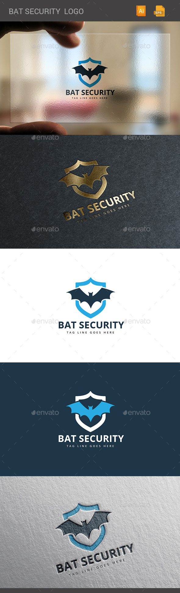 GraphicRiver Bat Security Logo 11297535