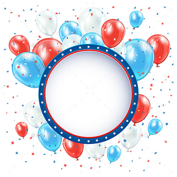 GraphicRiver Independence Day Background with Balloons 11297577