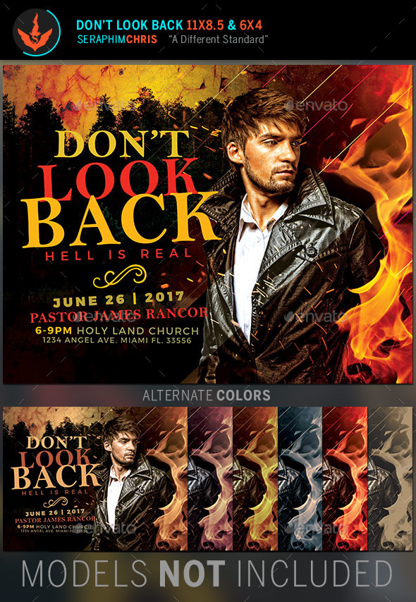 GraphicRiver Don t Look Back Church Flyer Template 11297644