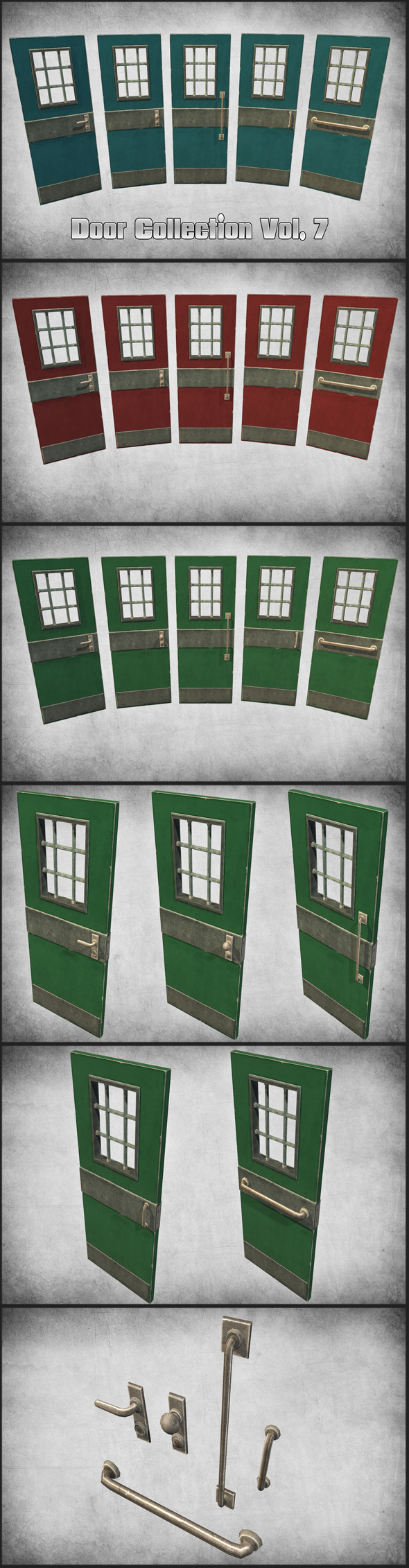 3DOcean Door Collection Vol 7 11297679