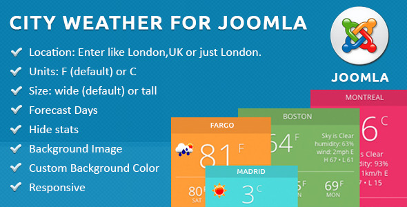 CodeCanyon City Weather for Joomla 11297781