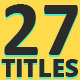 27 Titles - On Screen - VideoHive Item for Sale