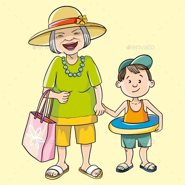 GraphicRiver Granny And Grandson 11297857