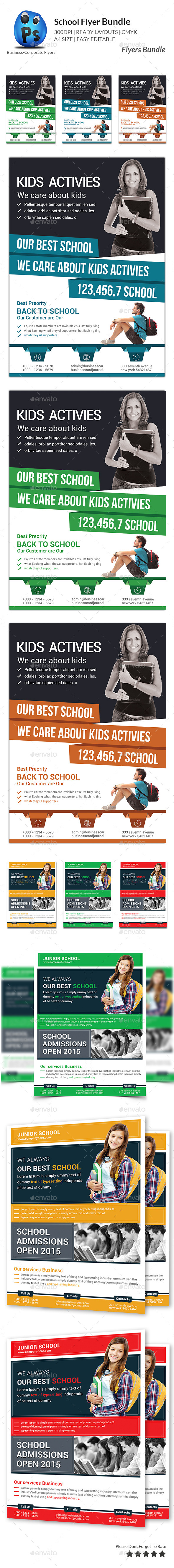 GraphicRiver Junior School Education Flyer Bundle 11297864