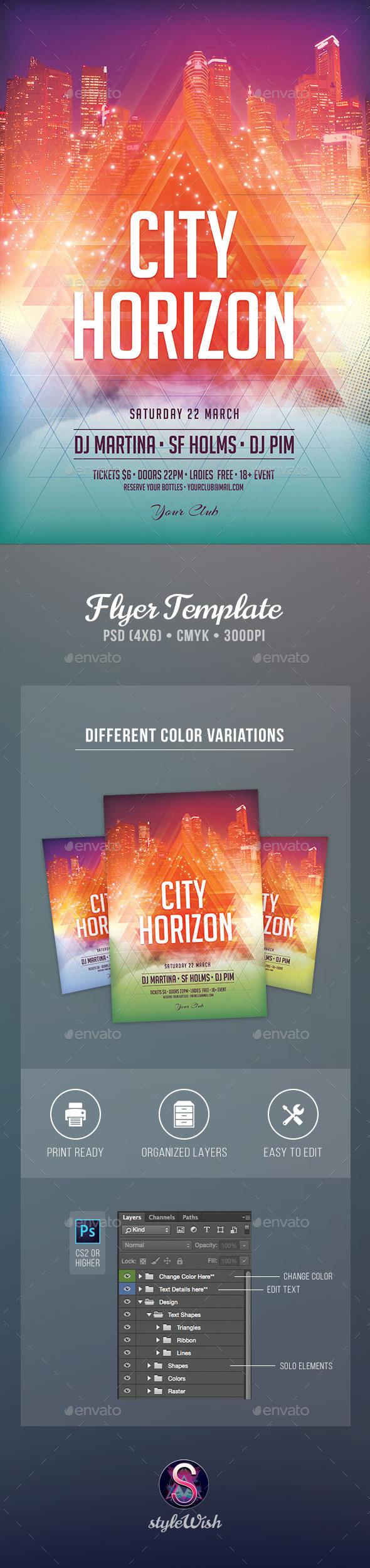 City Horizon Flyer - Clubs & Parties Events