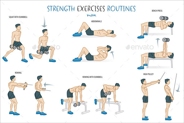 GraphicRiver Strength Exercise Routine Man 11297961