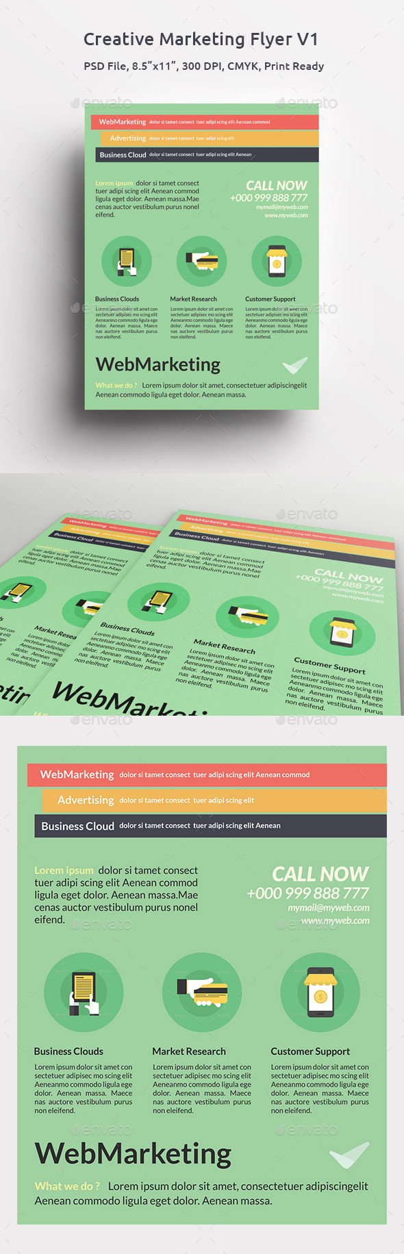 GraphicRiver Creative Marketing Flyer V1 11297974
