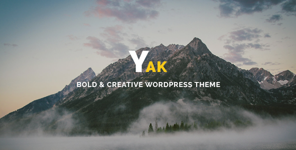 ThemeForest Yak Creative & Bold Portfolio WordPress Theme 11297997