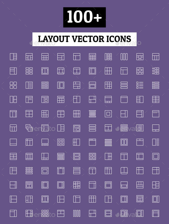 GraphicRiver 100& Layout Vector Icons 11298082