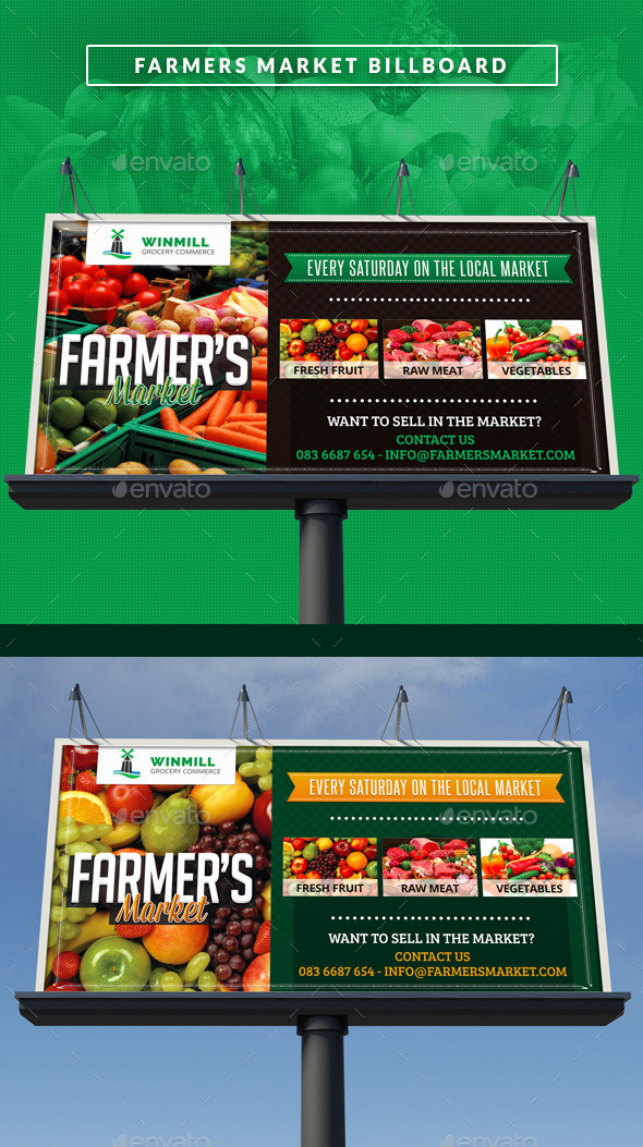 GraphicRiver Farmer s Market Commerce Signage Bilboard 11298099