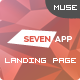 SevenApp - App Landing Page Muse Templates - ThemeForest Item for Sale