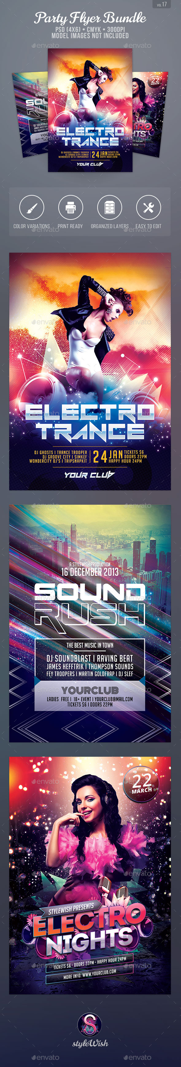 Party Flyer Bundle Vol.17 - Clubs & Parties Events