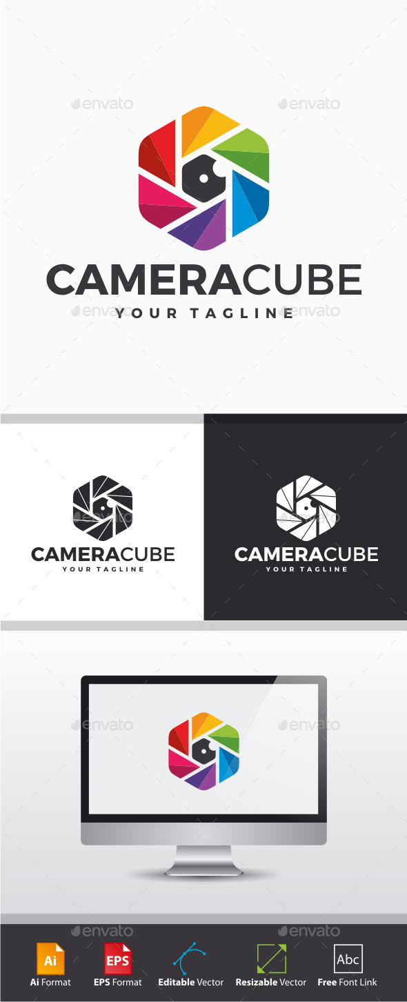 GraphicRiver Camera Cube Logo 11298290