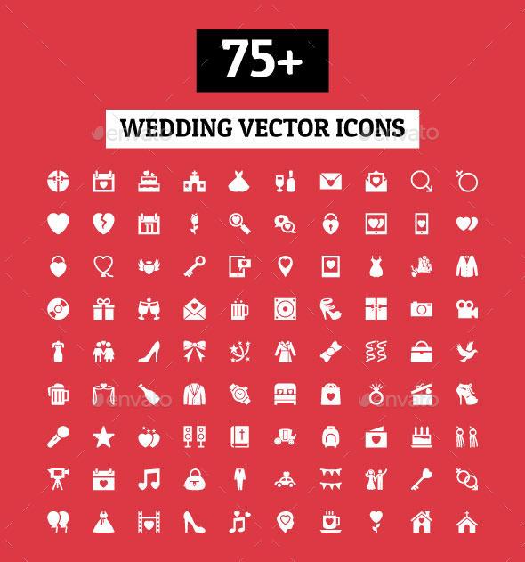 GraphicRiver 75& Wedding Vector Icons 11298297