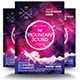 Electro Mountain Sound Flyer Template - GraphicRiver Item for Sale