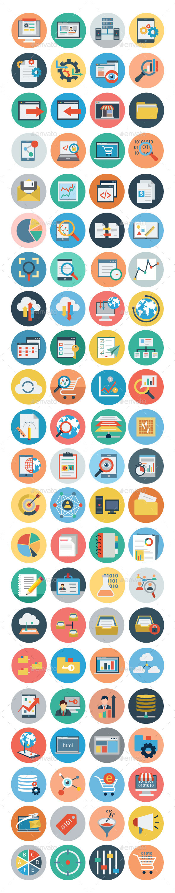 GraphicRiver 75& Flat Universal Web Icons 11298340