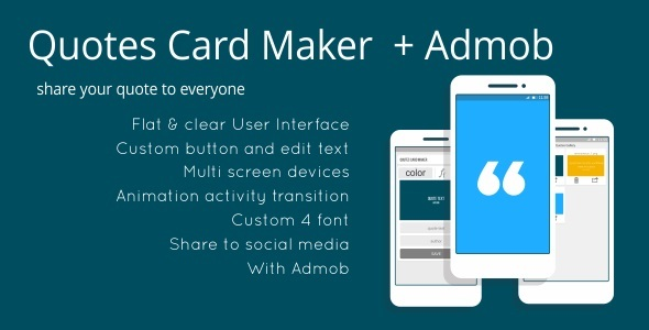 CodeCanyon Quotes Card Maker with Admob 11231410