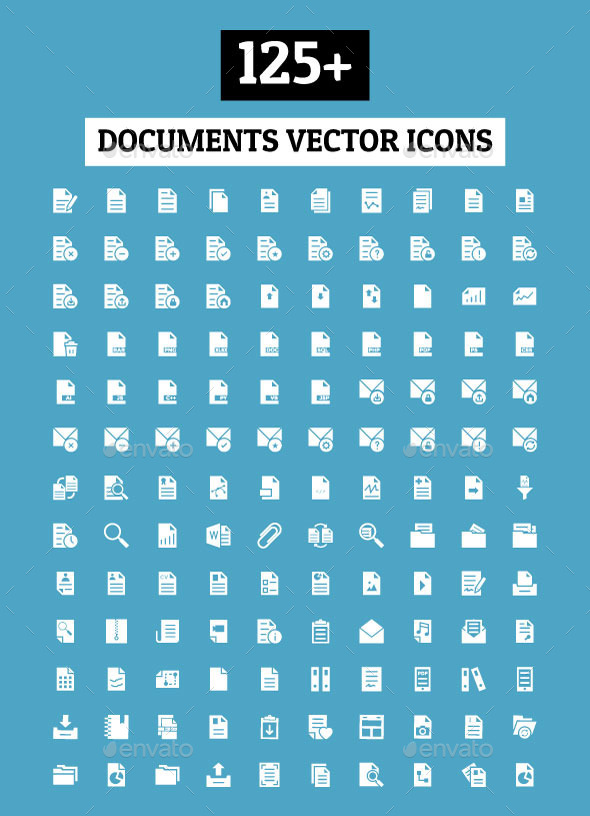 GraphicRiver 125& Documents Vector Icons 11298364