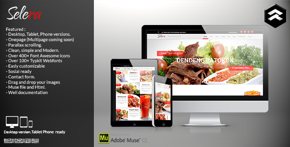 Selera - Restaurant, Cafe & Bar Muse Template