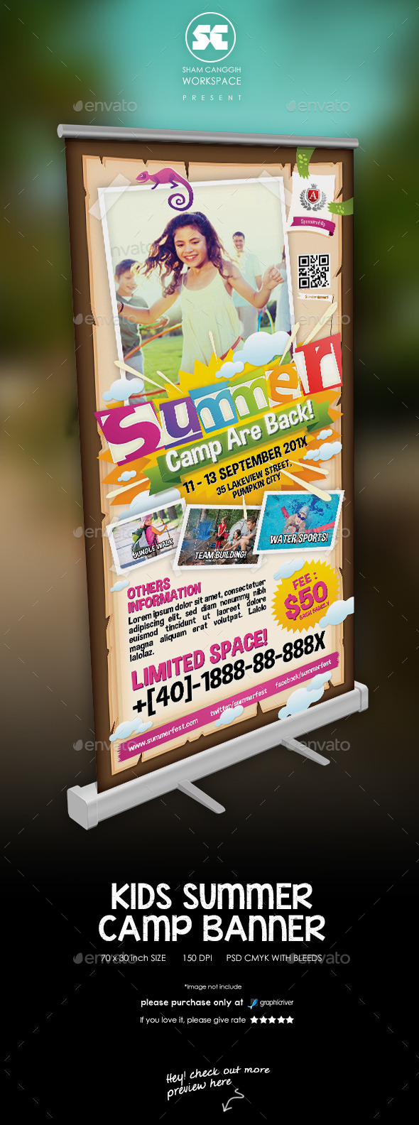 GraphicRiver Kids Summer Camp Banner 11298447