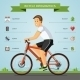 Cartoon Man Riding On a Bike - GraphicRiver Item for Sale